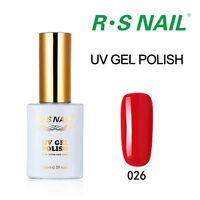 RS NAIL UV LED Soak Off Nail Gel Polish Manicure Pedicure 308 Colours Available