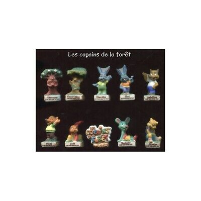 Série complète de 10 fèves Les copains de la forêt