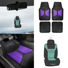 Universal Fitment Floor Mats Auto Car Suv Van Rubber Purple Black With Free Gift Fits 2012 Toyota Corolla