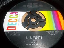 "L. E. WHITE "" THE CITY OF NEW ORLEANS / SHORT ON LOVE TOO LONG "" BLUEGRASS 7"" VG"
