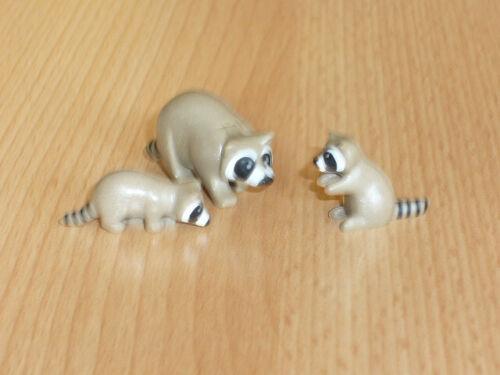 Playmobil Waschbärfamilie aus Set 4095 oder ähnlichen Zoo Tierpark 24