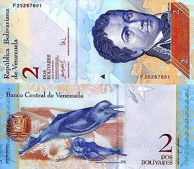 VENEZUELA 1 Bolivares Banknote World Paper Money UNC Currency Pick p68 Bill Note