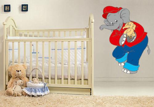 Wandtattoo Benjamin Blümchen mit Babyelefant bunt Wandfolie Kinderzimmer Deko
