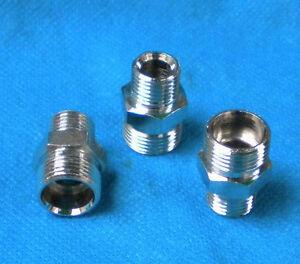 "Pipe 1/4"" NPT Male X M12 M12X1 Male Metric Adapter Fitting Oil Fuel Air N-AE"