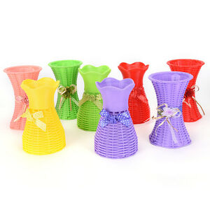 Reusable-Plastic-Flower-Vase-Basket-Home-Decoration-Artificial-Flower-Vase-DIUK