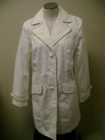 Dennis Basso Water Repellent Paisley Lined Jacket White