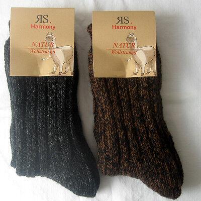 2 Paar Damen Wollsocken 70/% Schafwolle Superweich beige und braun 35 bis 42