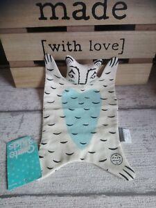 Doudou Plat Ours Tissu Beige Bleu Bear Lovie By Roxy Marj Crate & Kids Neuf