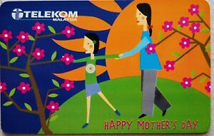 Malaysia Used Phone Cards - Happy Mother's Day