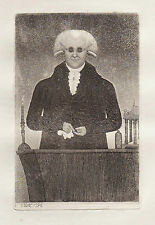 JOHN KAY Original Antique Etching. Dr. Henry Moyes, Lecturer on Chemistry, 1796