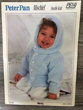 3ae930e04 Peter Pan Knitting Pattern Baby s toddlers DK Raglan Sleeved Hooded ...