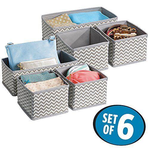 Mdesign Tissu Boîtes de rangement-Convient pour coiffeurs, tiroirs et armoires-Pa