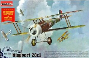 Roden-403-1-48-Nieuport-28C1-French-fighter-biplane-WWI-plastic-model-kit