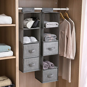 Hanging-Garment-Organiser-Wardrobe-Room-Storage-Shoe-Clothes-3-5-Section-Shelves