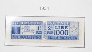 Italien-Sammlung-Paketmarken-mit-der-seltenen-Mi-Nr-81-Portomarken-etc