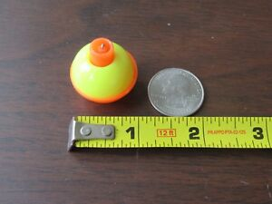 "50 1"" FISHING BOBBERS Round Floats Yellow / Orange SNAP ON FLOAT Bulk Pack"
