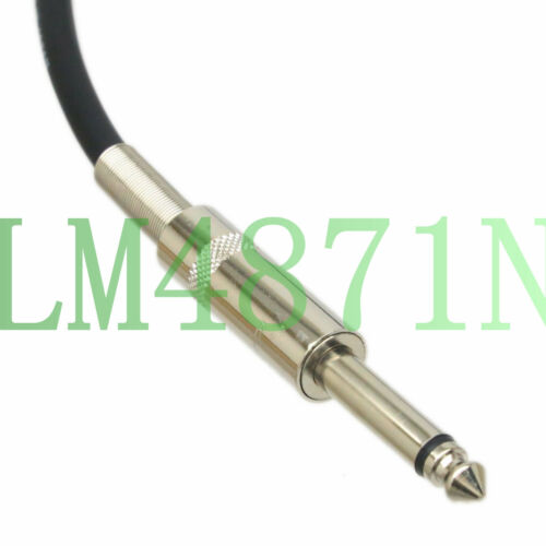 DIY Y-type Unbalanced Leads L-4E6S 6.35mm 1//4 TS to 2x XLR-M 3P male audio cable