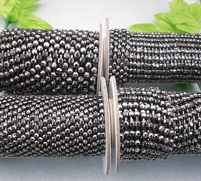 Black crystal glass rhinestone close gun black cup claw chain trims Applique