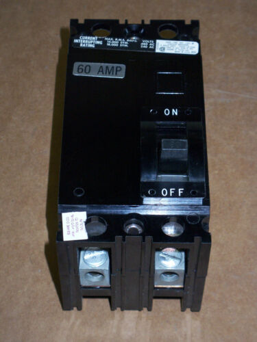 Square D FAL 2 pole 60 amp 480v FAL24060 Circuit Breaker BLACK