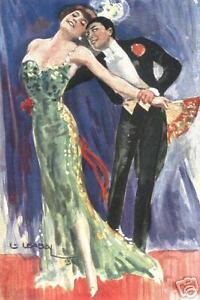 BALLROOM TANGO DANCE print waltz foxtrot dancing art