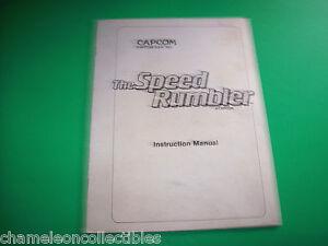 SPEED RUMBLER By CAPCOM ORIGINAL VIDEO ARCADE GAME SERVICE MANUAL | eBay