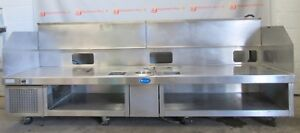 """Randell 9987SCN Refrigerated Low Stainless Prep Counter Drop In Wok Range 97"""""""