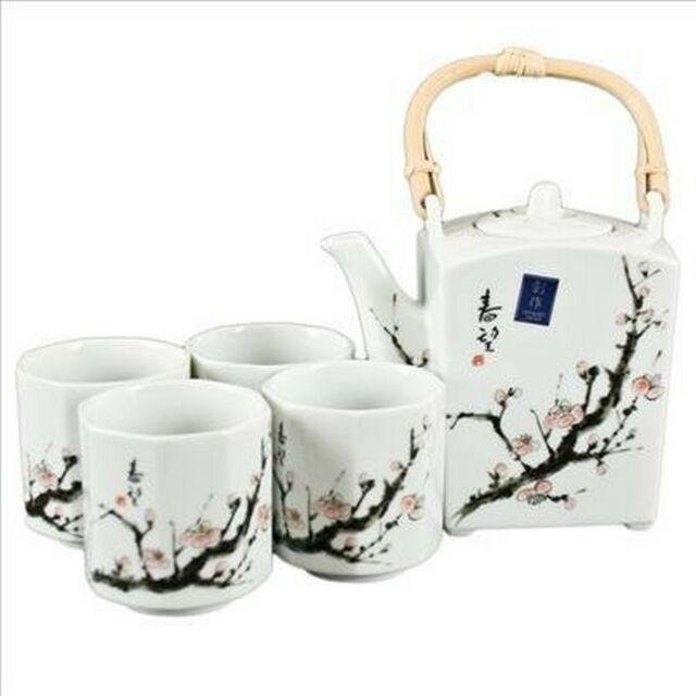 Japanese Square Ume Porcelain Tea Set P6/U S-3366 AU