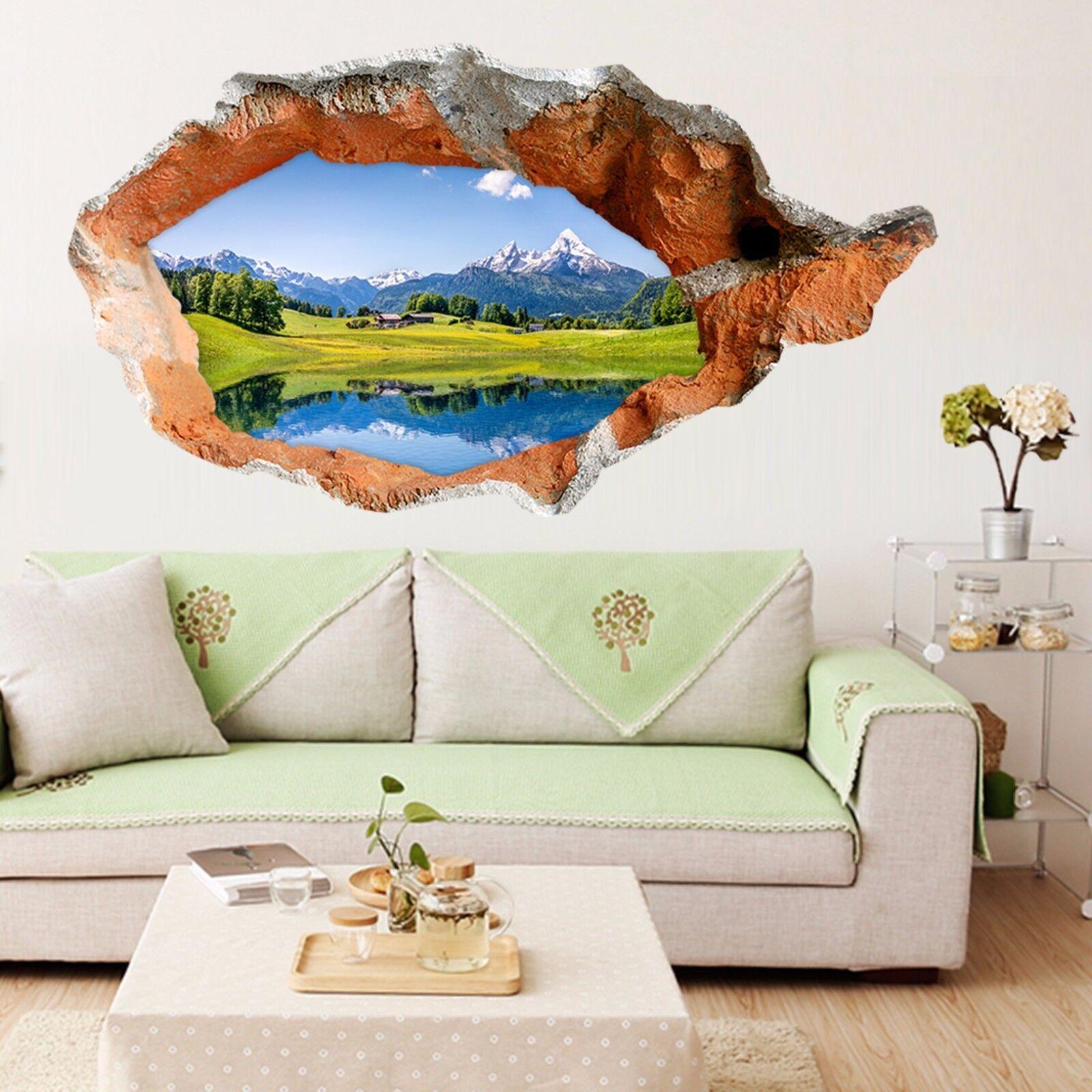 3D Prato Sul Lago 163 Parete Murales Adesivi Decal Sfondamento AJ WALLPAPER IT