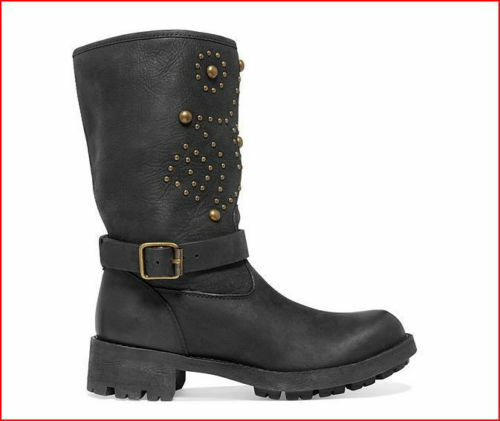 Ralph Lauren Denim and Supply damen Leather  Biker Slouch Slouch Slouch Studded Stiefel 9.5 c61226