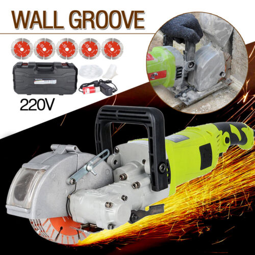 US 220V 4KW Commercial Electric Wall Chaser Groove Cutting Machine Wall Slotting