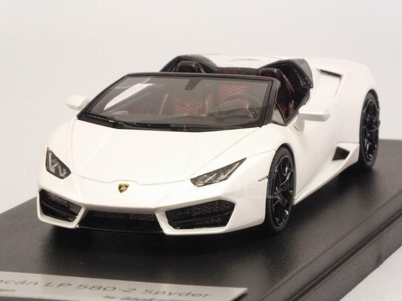 Lamborghini Huracan LP580-2 Spyder Bianco Canopus 1 43 LOOKSMART LS464D
