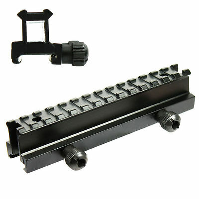 """High Profile Tactical See-Thru Flat Top 1"""" Riser Scope Mount Base For Picatinny"""