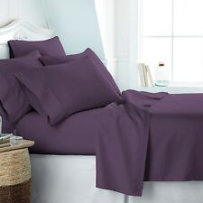 Home Collection Super Soft Luxury 4 Piece Bed Sheet Set -FREE BONUS PILLOWCASES!