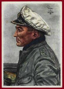 WW 2 Third Reich postcard Kriegsmarine Kapitänleutnant Günther Prien U -BOOT