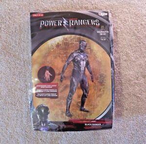 Adult Men/'s Saban/'s Power Rangers BLACK Ranger Full Bodysuit Costume Sz Medium