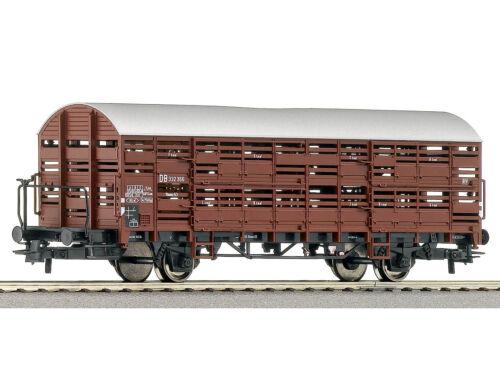 Roco 66875 Güterwagen Kleinvieh-Verschlagwagen DB H0