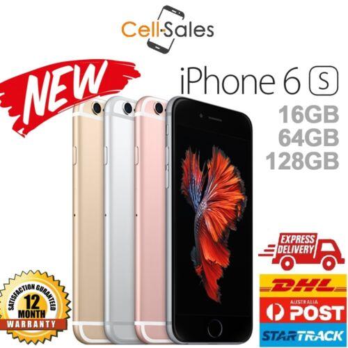 1 of 1 - New Apple iPhone 6s 16GB 64GB 128GB Unlocked 4G Smartphone Aus 12 Month Warranty