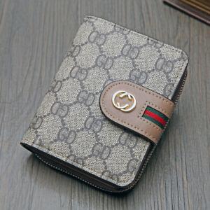 Women-PU-Leather-Print-Short-Bifold-Wallet-Multi-slots-Card-Coin-Holder-Purse