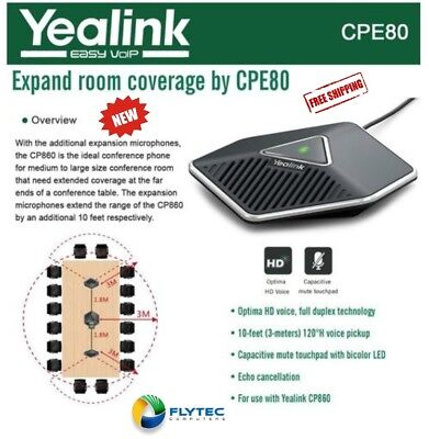 Yealink CPE80 Conference Phone Extension Mic Brand New! ONE MIC ONLY