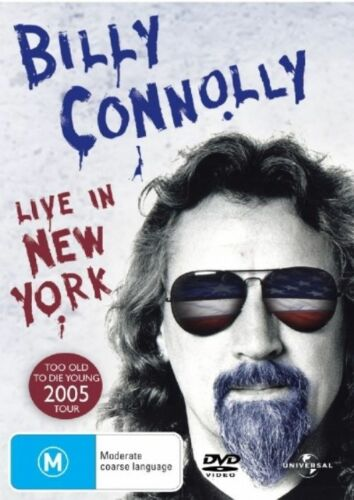 1 of 1 - Billy Connolly - Live In New York (DVD, 2006) Brand New & Sealed R4