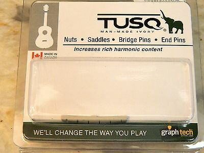 GRAPH TECH ® SLOTTED TUSQ ™ NUT FOR STRAT TELE PQ-5000-00 WHITE