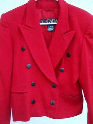 Vintage Escada by Margaretha Ley Lined Red Wool Jacket