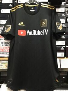 Adidas LAFC HOME JERSEY 2019 Authentic Jersey Black And Gold Size ... 086069d35