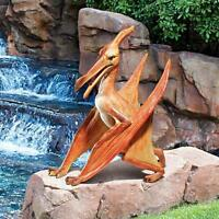 Pterodactyl Prehistoric Flying Reptile Dinosaur Statue Dino Art Sculpture