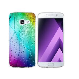 Détails sur Coque Samsung Galaxy A 3 ( Modele 2017 ) - Motif Goutte D'Eau Verre Trempé