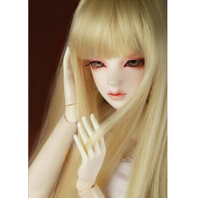 "/""  MX Blended Mohair Wig Dollmore  1//3BJD OOAK Supplier SD wig 8-9 Blonde"