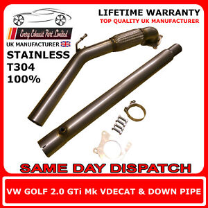 VW-Golf-Mk5-MK6-GTI-FSI-T304-Decat-and-Downpipe-3-034-Bore-Suit-70mm-2-75-034-System