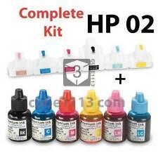 Refillable Ink Cartridges Kit for HP 02 Photosmart C6150 C6180 C6280 C7180 C7250