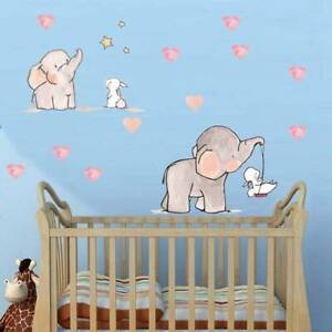 Baby Kids Room Animal Elephant Rabbit