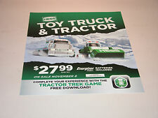 "HESS 2013 TOY TRUCK AND TRACTOR VERTICAL VINYL POSTER 18"" TALL X 14 1/2"" WIDE"